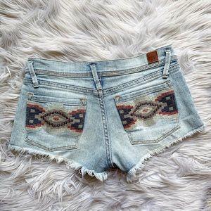 Roxy Southwestern Embroidered Cut-Off Denim Shorts